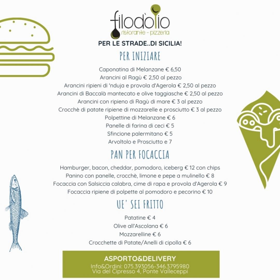 menu ristorante 21